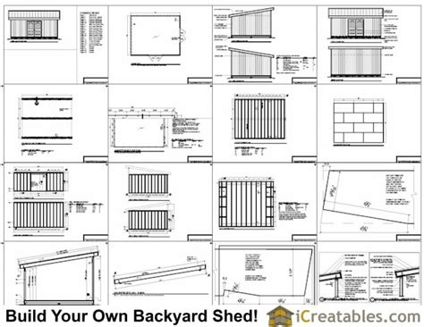 16x20 lean to shed plans way to build a large lean to shed