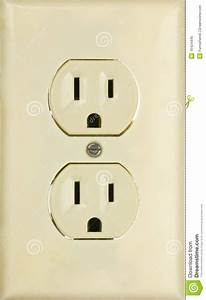 An American 110 Volt Three Prong Electrical Power Stock Image