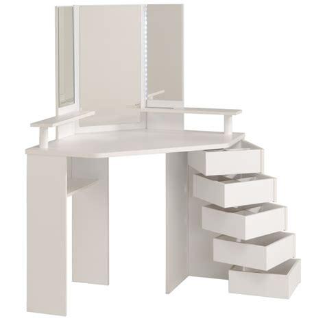 chambre avec coiffeuse coiffeuse d 39 angle volage 12 ton blanc sb meubles discount