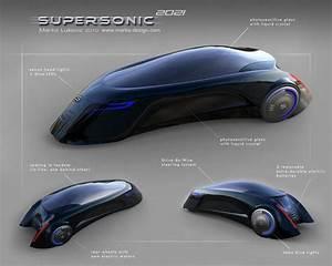 Supersonic Futuristic Car by Marko Lukovic - Tuvie