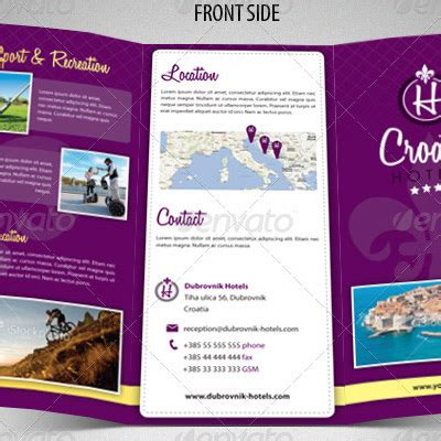 4 Fold Brochure Template 7 Best Sles Templates 7 Great Travel Brochure Exles And Design Sles