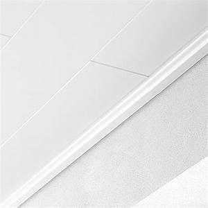 Deckenpaneele Weiß Feuchtraum : logoclic deckenabschlussleiste wei hochglanz 2 6 m x 36 mm x 16 mm bauhaus ~ Orissabook.com Haus und Dekorationen