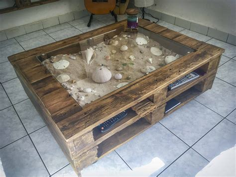beachy keen pallet coffee display table table basse avec