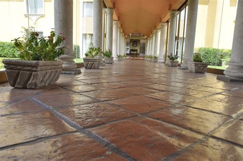 terracotta and saltillo tile installation done by the
