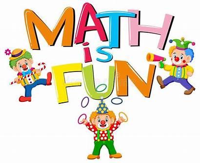 Math Fun Word Font Vector Clip Clowns