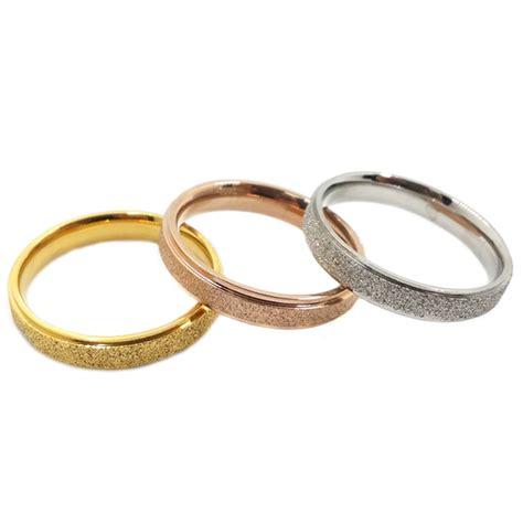 wholesale rings vintage titanium cheap dull gold wedding engagement ring 18k