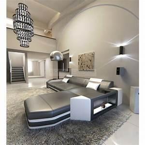 Couch L Form Grau : designersofa prato l form mit beleuchtung grau weiss m bel24 ~ Indierocktalk.com Haus und Dekorationen