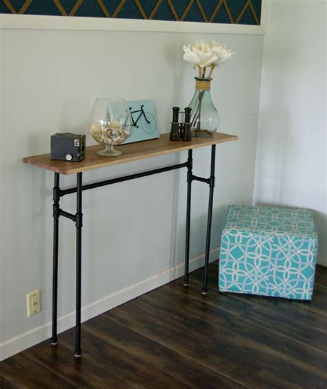 how to a console table how to build a rustic table galvanized pipes