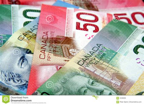colorful money colorful canadian currency royalty free stock photo