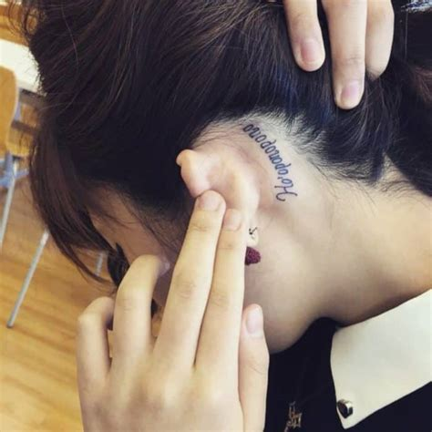 ear text girly tattoos ideas sheideas