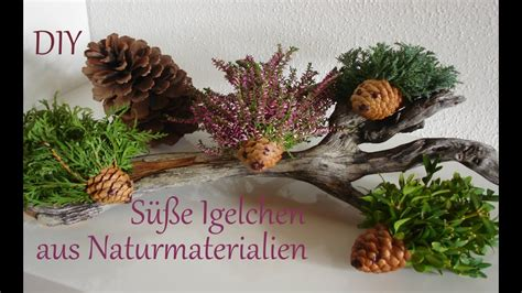 Aus Naturmaterialien by Herbstdeko Basteln Dansenfeesten