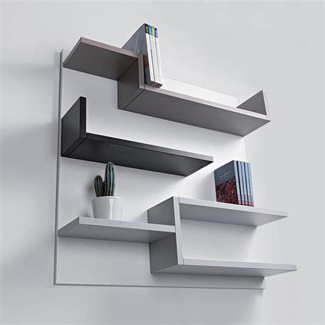 chaise pour chambre à coucher étagère murale design blanc 100 x 100 cm myshelf