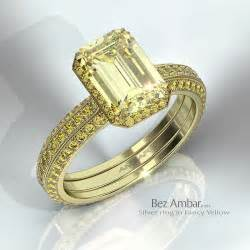 fancy engagement rings silvet engagement ring fancy yellow colored diamonds