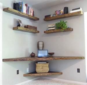 free shipping floating corner desk modern corner desk With benefits of adding small corner shelf