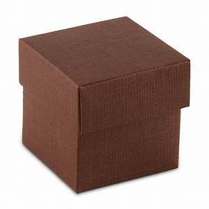 10 Chocolate Brown Square Favor Box with Lid - The Knot Shop