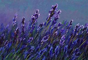 Fawn's Paintings: Lavender, flowers, demonstration painting