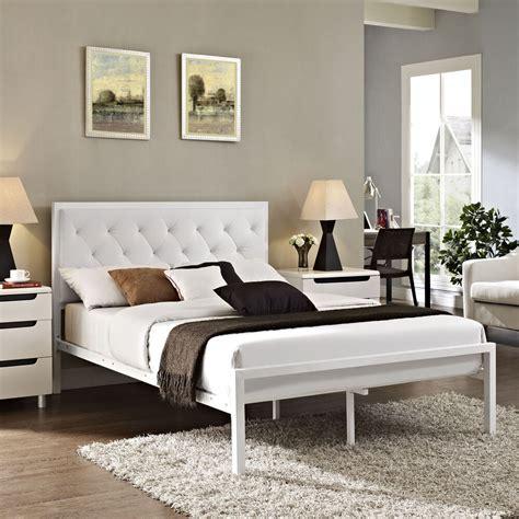Bedframe With Headboard by Platform Bed Frame Padded Vinyl Upholstered