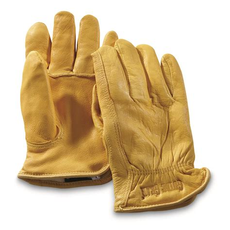 genuine leather mittens guide gear 39 s insulated leather gloves 67743 gloves