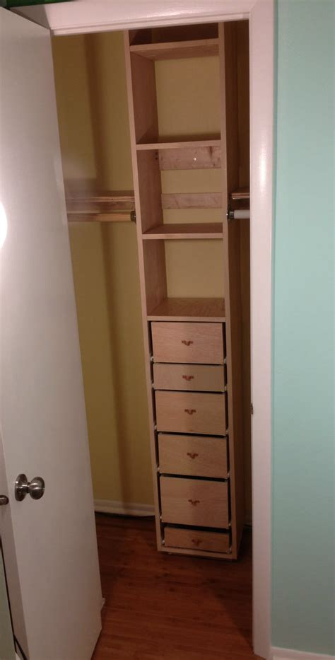Closet Tower With Drawers by White Closet Tower From Scraps Diy Projects