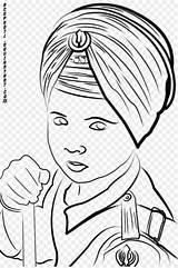 Drawing Turban Sikhism Coloring Pages Dastar Sketch Drawings Template Getdrawings sketch template