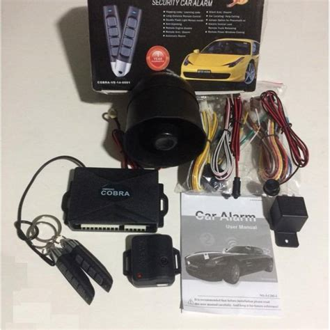 Car Alarm Omega Cobra Auto Security System Remote Pen Type