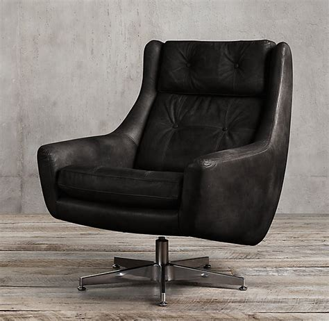 luther swivel chair leather swivel chairs home ideas 3899