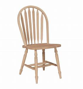 Arrowback Windsor Side Chair with Turned Leg - Wood You