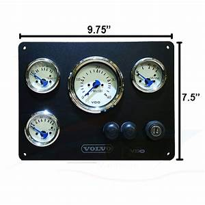 Volvo Panel With Vdo Gauges  Allentare Series  U2013 Ac Dc Marine Inc