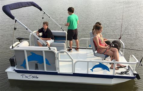 Mini Pontoon Boats For Sale In Iowa by Pro Strike 126 Dlx