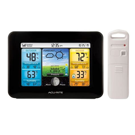 wireless color weather station acurite color weather station 02077m the home depot