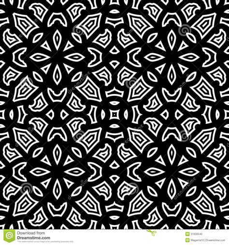 Abstract Black White Pattern by Black And White Pattern Stock Vector Image Of Floral