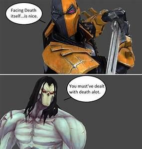 Injustice: Deathstroke vs Death by xXTrettaXx on DeviantArt