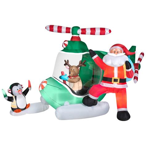 holiday living 5 2 ft animated helicopter reindeer with