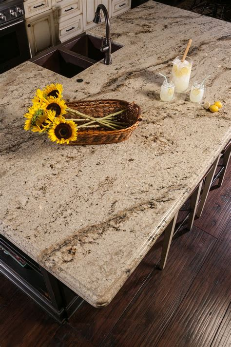 beautiful beige granite countertops in kitchen