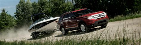 ford explorer  pull   amount  weight