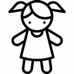 Doll Toy Icon Svg Toys Drawing Vector