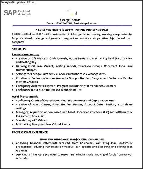 sap sd resume exle sap fi resume bestsellerbookdb