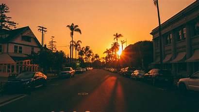 Street Palm Sunset Trees 4k Wallpapers Desktop