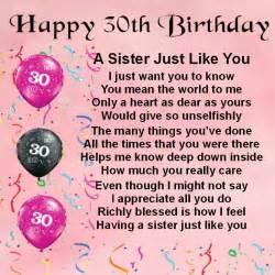 Happy 30th Birthday Sister Poems