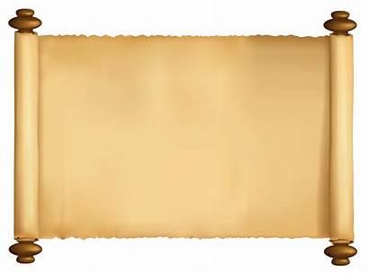 Scroll Transparent Papyrus Clipart Clip Paper Scrolls
