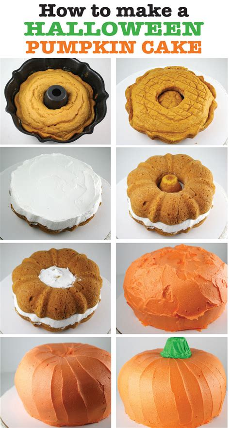 How To Make A Halloween Pumpkin Cake Pictures, Photos, And