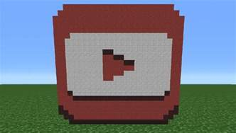 Minecraft YouTube Play Button Logo