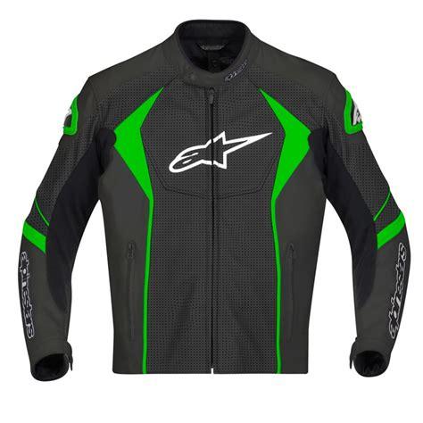 green motorcycle jacket alpinestars gp r perforated leather jacket black green