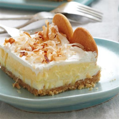 layered coconut cheesecake bars recipe desserts with