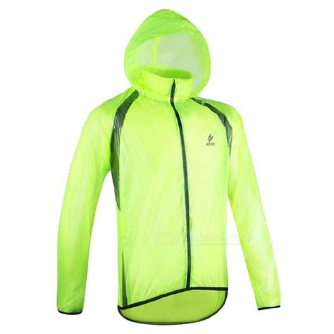 mens fluorescent cycling jacket arsuxeo ultrathin men 39 s cycling rain jacket fluorescent