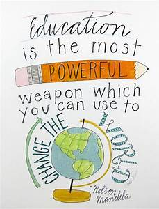 Education Is The Most Powerful Weapon Poster : education is the most powerful weapon wh nelson mandela education quote ~ Markanthonyermac.com Haus und Dekorationen