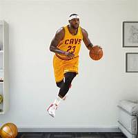 lovely nba wall decals Life-Size LeBron James - Gold Wall Decal   Shop Fathead® for Cleveland Cavaliers Decor