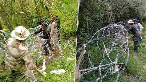 ทหารจงอางศึก แอบติดตั้งสัญญาณตามป่า ขึงลวดหนามกันต่างด้าว ...