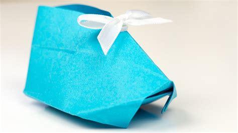 origami babyschuhe aus papier falten bastelanleitung geschenk geburt