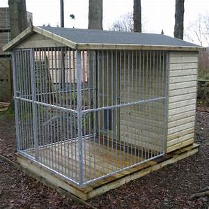 Dog run and kennel gt dog runs kennels tate fencing for Dog kennel and run